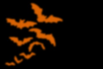 abstract black background with blurred orange line, for hallowee