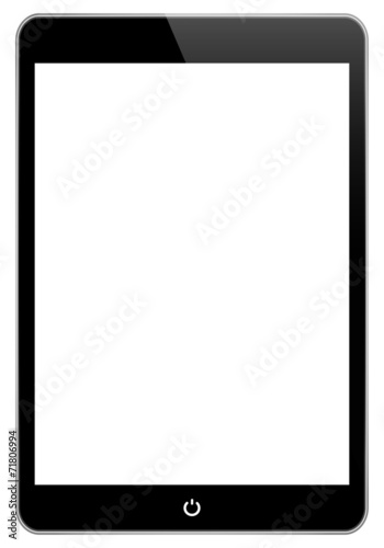 Black Tablet Isolated On White - 71806994