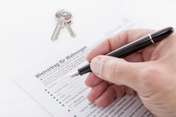 Mietvertrag ausfüllen