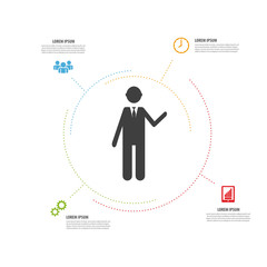 infographic modern design. minimalistic vector with icons