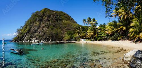 Fotobehang Strand Plage du Pain de Sucre in Les Saintes, Guadeloupe,