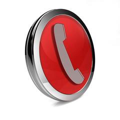 phone circular icon on white background