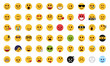 Complete flat emoji set