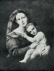 Madonna And Child by Jozef Oleszkiewicz