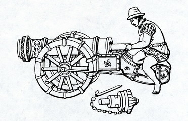 Breech-loading german cannon of 16. century