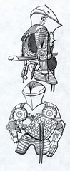 Jousting armour from 16. century