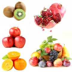 Set various berries and fruits