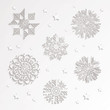 Vector Illustration of Paper Snowflakes