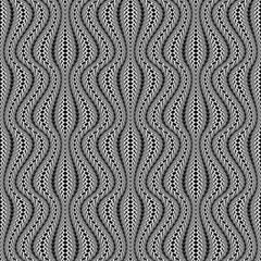 Design seamless monochrome stripy pattern