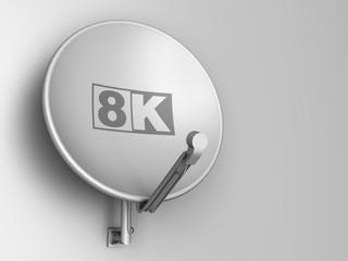 8K - Ultra high definition (UHD) TV sat
