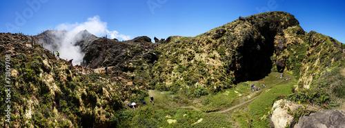Leinwanddruck Bild La Souffrière volcano in Guadeloupe
