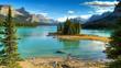 Spirit Isalnd in Maligne Lake