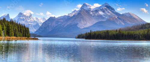 Canvas Meer Maligne Lake