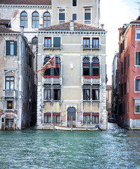 Old buildling at Grand Canal in Venice