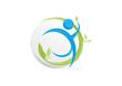 Human Abstract Nature Healthy Succsess Symbol Icon Logo