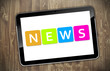 Tablet mit NEWS