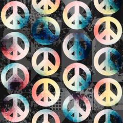 Symbols of pacific retro pattern.
