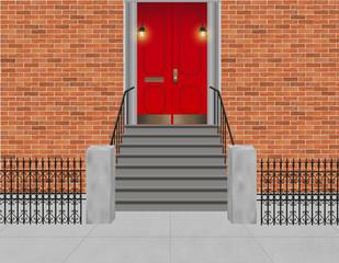 Hauseingang - Treppenaufgang