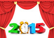 happy new year 2015 Illustrations 3d