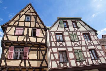 Maisons à colombages à Riquewihr, Alsace, Haut RHIN