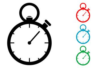 Pictograma cronometro con varios colores