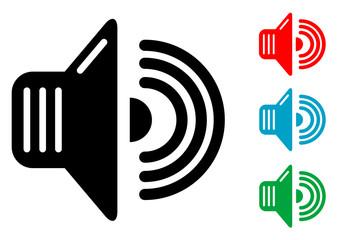 Pictograma sonido con varios colores