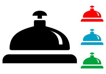 Pictograma timbre de hotel con varios colores