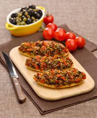 bruschetta with pesto
