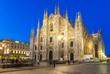 Night view of Duomo in Milan, Italy - 71811712
