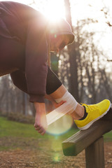Jogging injury - warm up before running/exercising.