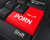 Porn Button on Keyboard poster