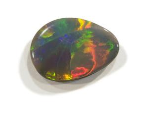 Polished Harlequin opal.
