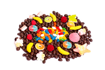 colorful candy isolated