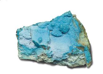 Crisocolla, Kalukuluku mine, Congo. 6cm across.