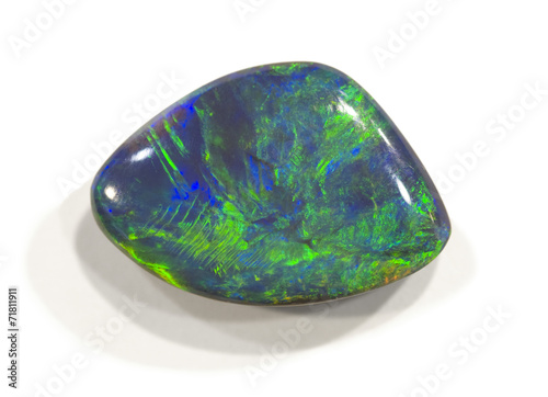 Leinwandbild Motiv Polished opal from Lightning ridge, Australia. 2cm across.