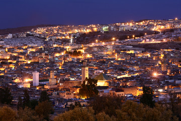 Fez at night
