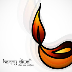 Diwali diya art creative colorful vector design