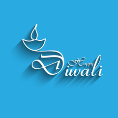 Happy Diwali creative text design.vector background