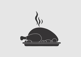 food chiken meat logo vector