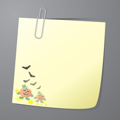 Paper note of Halloween background