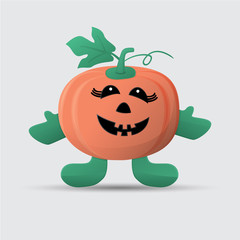 Pumpkin doll illustration halloween icon