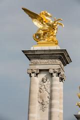 Paris - Golden winged horse statue on Alexander III bridge