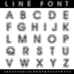 horizontal line font