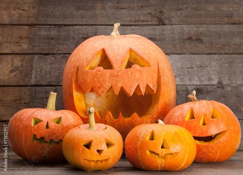 Leinwandbild Motiv Halloween Jack-o-Lanterns