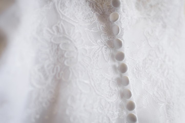 fragment of wedding dress - buttons