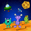 Funny monsters in space - 71813332