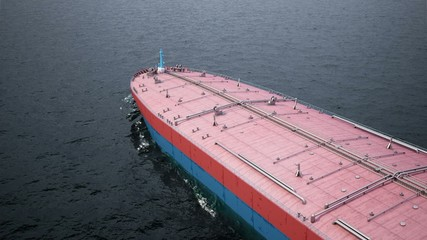 Oil tanker in the ocean