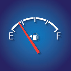 Gas gage, in flat design