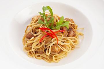 thai style fusion spaghetti