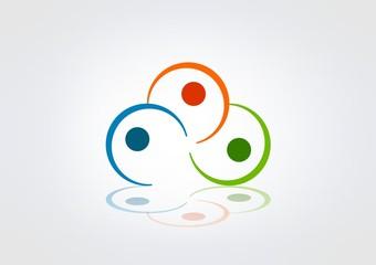 Abstract Logo Business icon Circle modren.